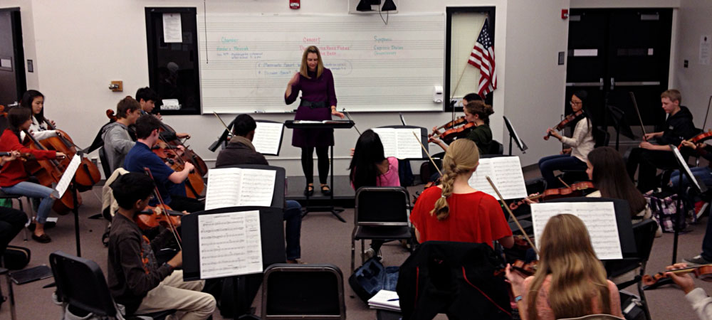 Cherry Creek High School Orchestra Director Jennifer Poole