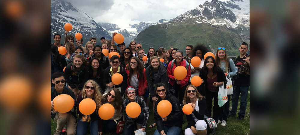 Photo of CCHS students in Europe