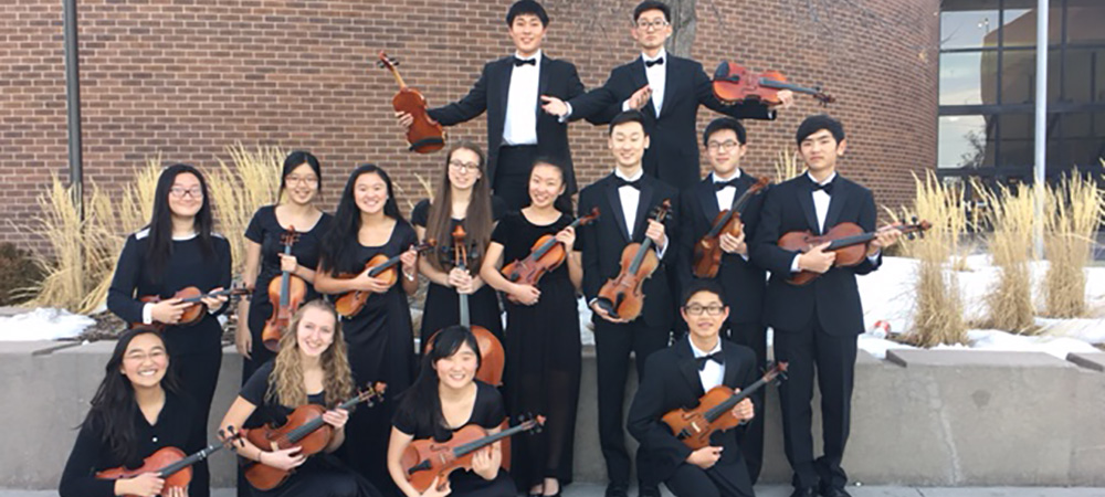 CCHS Orchestra students